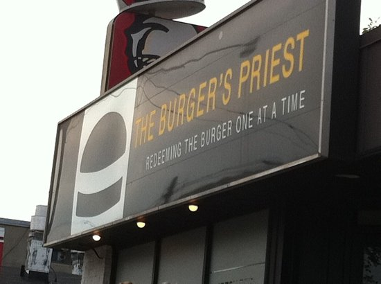 Photo of American Restaurant The Burger's Priest at 1636 Queen St E, Toronto M4L 1G3, Canada