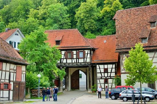 The entrance to the little village next to Blautopf
