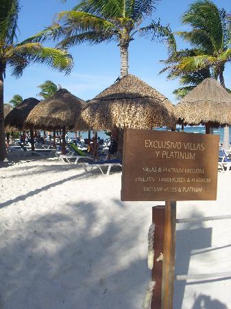 section privée de la plage
