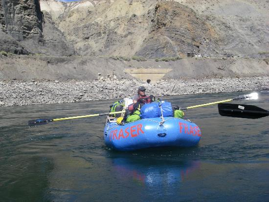 Fraser River Rafting: Simon rowed the gear boat, while we paddled in the other raft.