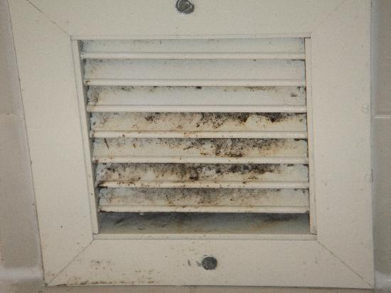 Mold on the bathroom vent Picture of Holiday Inn Corpus Christi
