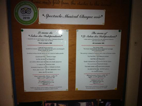 The menu picture of le salon des independants cannes - Salon des vignerons independants nice ...