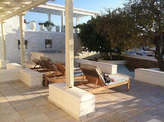 Nissaki Boutique Hotel: Our private terrace