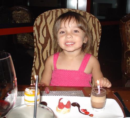Voodoo Steak: Camilla having dessert...