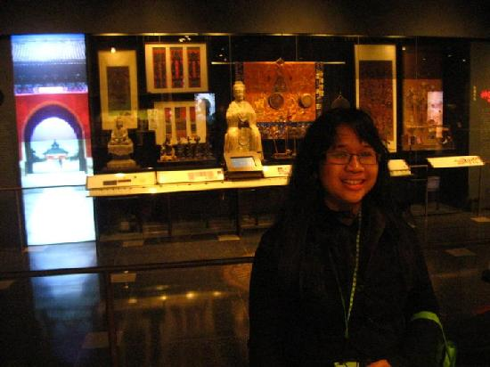 Museum Of World Religions : display showing examples of East Asian Buddhist and Taoist beliefs