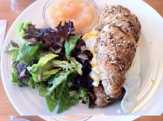 Whole wheat croissant and egg sandwich picture of the for Cookery fish creek