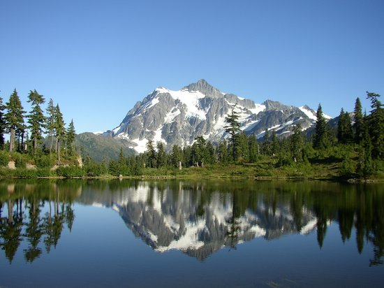 Washington: Picture Lake und Mt. Shuksan