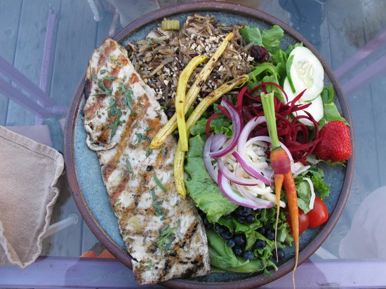 Angry Trout Cafe : White fish on a plate