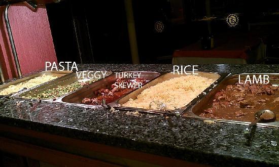 Kayamaris Hotel : Hot food selection - thats it folks, nothing else