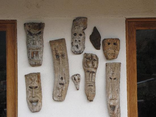 Casa Machaya Oaxaca Bed & Breakfast: Native mask collection