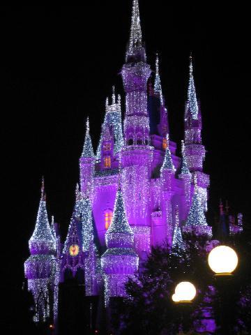 Cinderella's Castle at Christmastime