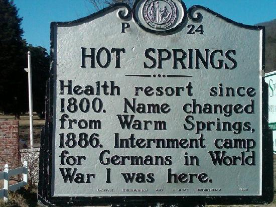 Hot Springs Resort and Spa: sign