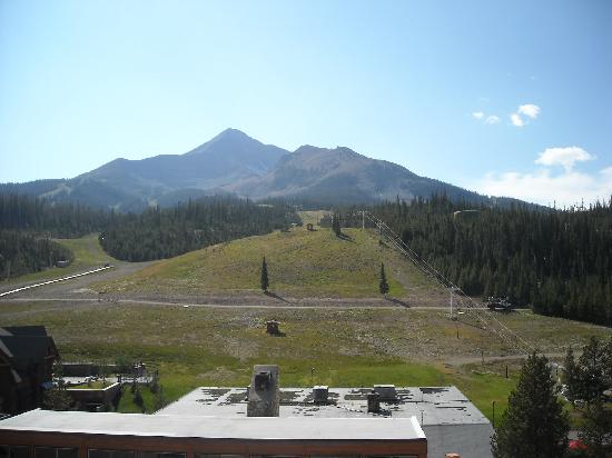 Shoshone Condominium at Big Sky Resort: View of Lone Mountain from the balcony