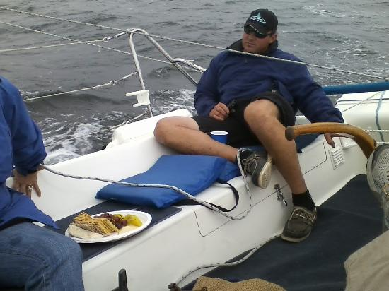 Monterey Bay Sailing: Casual Dutch sailing the boat