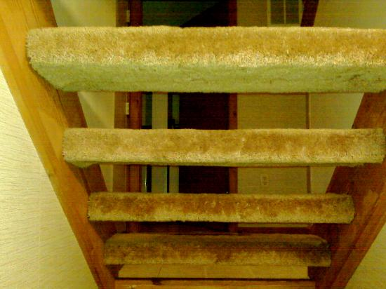 """Chalet High Resort : We lovingly called these the """"stairs of doom"""" knowing full well one of our little ones could sli"""
