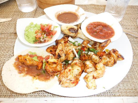 Beloved Playa Mujeres: Tacos de Camaron (Delicious) at The Grill