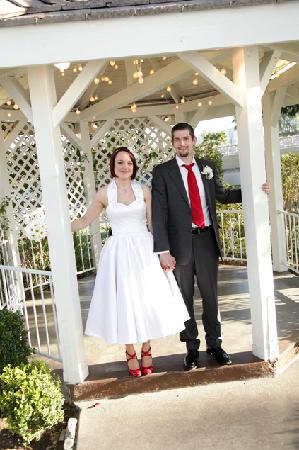 Myself and my husband under the gazebo at chapel of the flowers myself and my husband under the gazebo at chapel of the flowers mightylinksfo