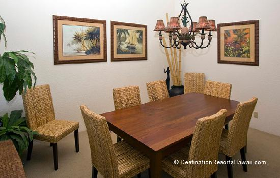 Dining Area in a Three Bedroom Suite at Wailea Grand Champions Villas