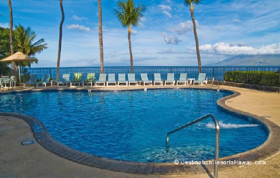 Polo Beach Club's Ocean Front Swimming Pool with West Maui Mountains Beyond