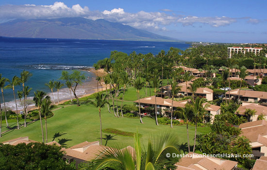 Overlooking Wailea Elua Village and the West Maui Mountains
