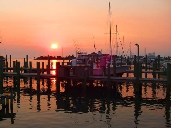 Edwards of Ocracoke Rooms and Cottages: Ocracoke harbor at sunset