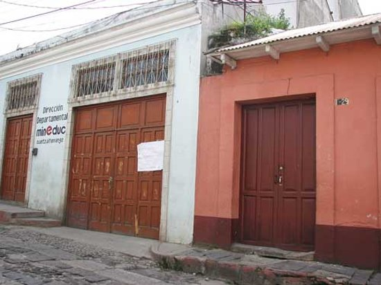 Quetzaltenango, Guatemala: next to the Mineduc building