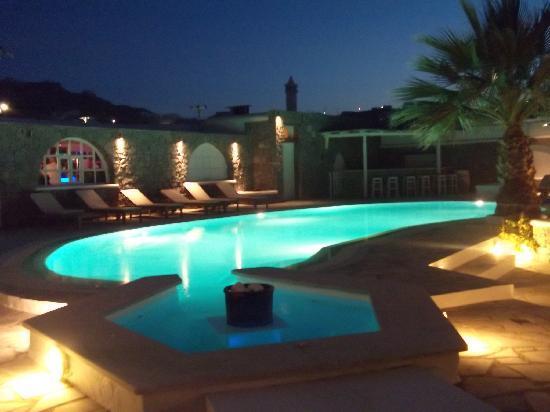 Vanilla Hotel: pool at night1