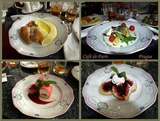 Cafe de Paris - Hotel Paris : les assiettes !