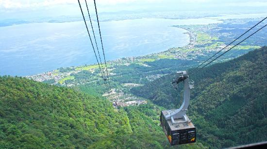 Otsu, Japan: Going up to Biwako Valley by the cable car.