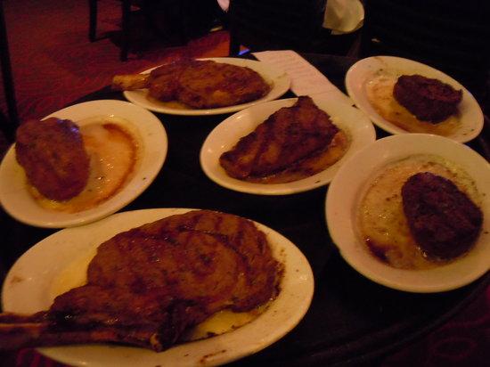 Ruth's Chris Steak House: 凄い量だ!これ食べるんだから凄いね!
