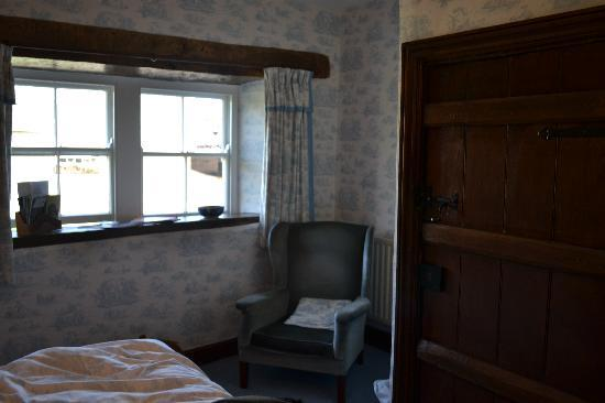 """Tranthwaite Hall : One of the bedrooms """"The Blue Room"""""""