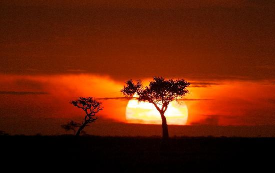 Porini Amboseli Camp : who needs photoshop with the sky painted like this?