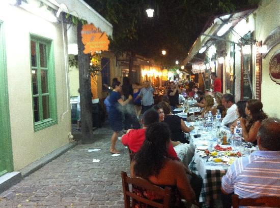 Alma Hotel: dancing in the street in Petra