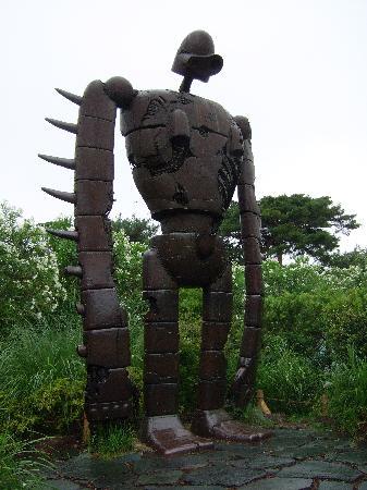 พิพิธภัณฑ์จิบลิ: Massive robot from Laputa (3 or 4m high I think?)