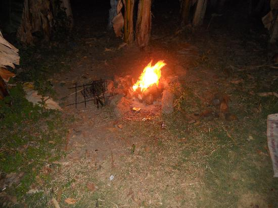 Nirvana Bungalows : Fire in the garden for our BIG FISH!