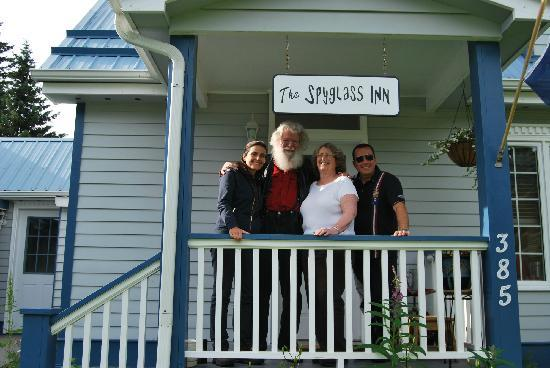 The Spyglass Inn B&B: Micky, Arden, Patricia, Alex.