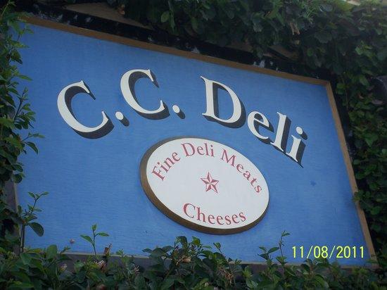 C C Deli: Their Exterior sign