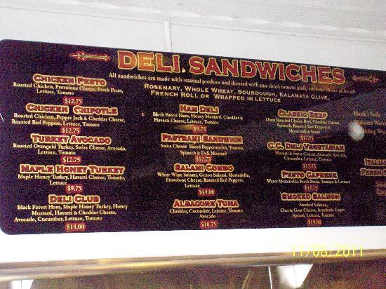 C C Deli: What you can order (but not get)