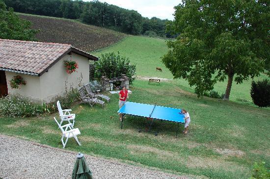 Peyrenegre Gites: view from window.
