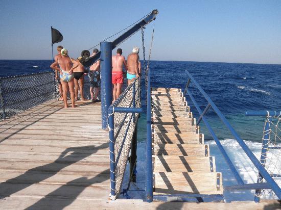 SuneoClub Reef Marsa: pontile sempre chiuso