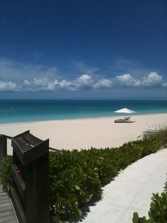 View of beach from Grace Bay Club
