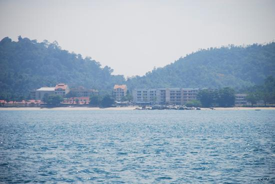 "Pangkor Laut Resort: ""Not so nice view"" from the main pool"