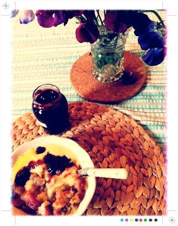 Alltybrain Farm Cottages: Our cottage came with scrummy homemade jam and table flowers