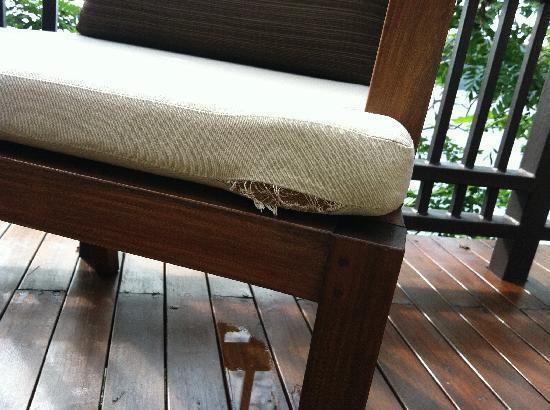 Banyan Tree Cabo Marques: Torn furniture