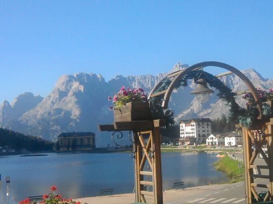 Grand Hotel Misurina : vista sul lago dalla sala da pranzo