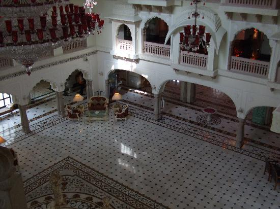 The Shiv Vilas: from the third floor to reception area
