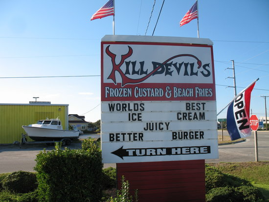 Kill Devil's Frozen Custard & Beach Fries: kill devil hills custard