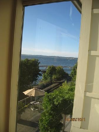 The Chrysalis Inn & Spa: partial room window view of Bellingham Bay