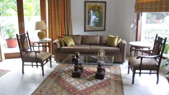 Thikana: the main sitting room