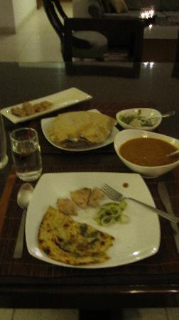 Thikana: the incredible dinner they ordered in from the 'club' for me